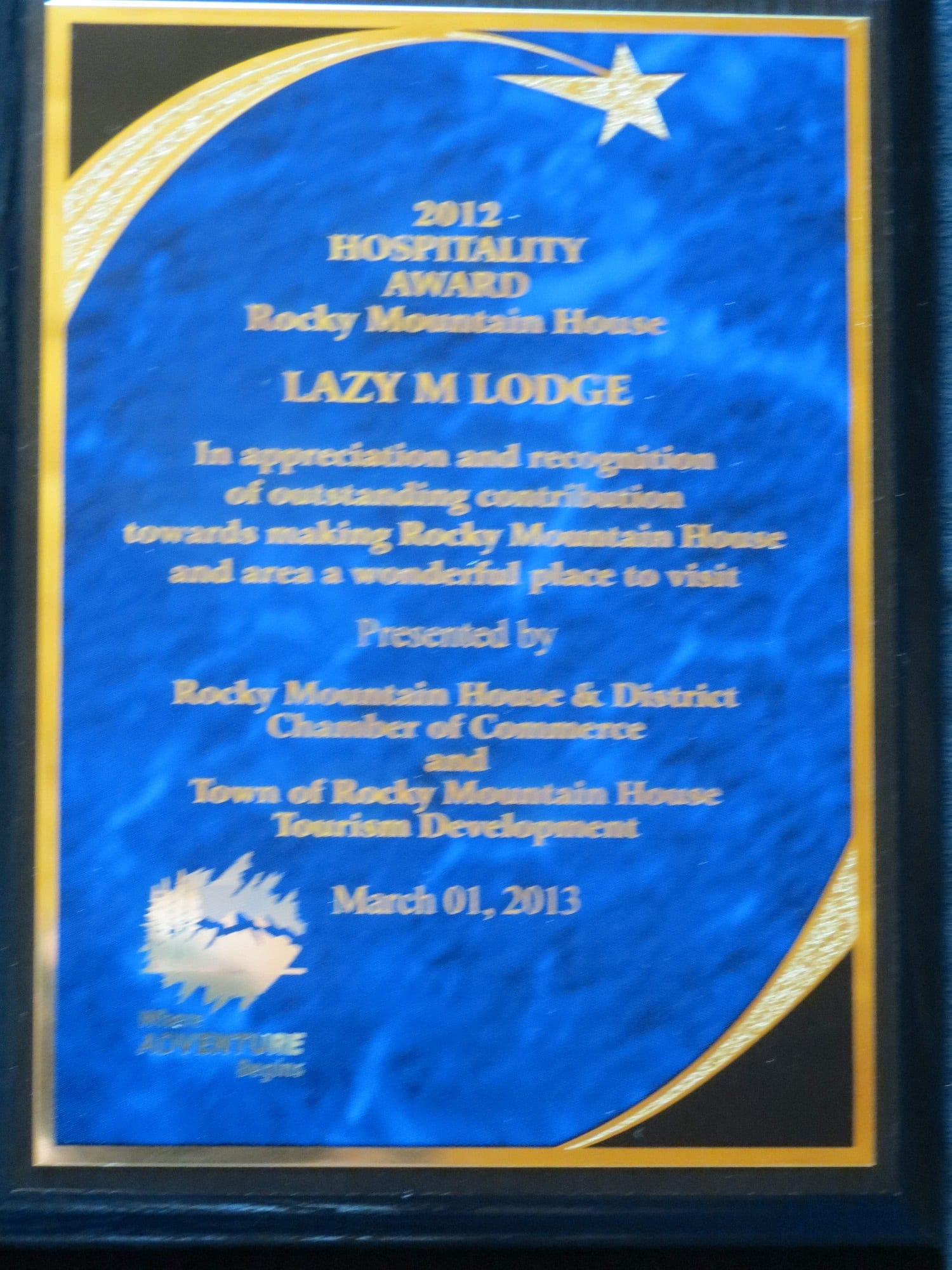 2011 Hospitality Recognition Award